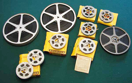 reels of different sizes three inches five inches and seven inches