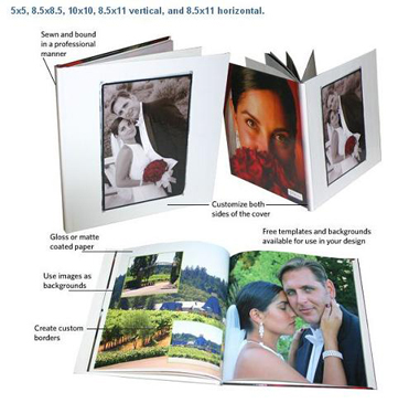 Create unique photobooks with our easy to use software